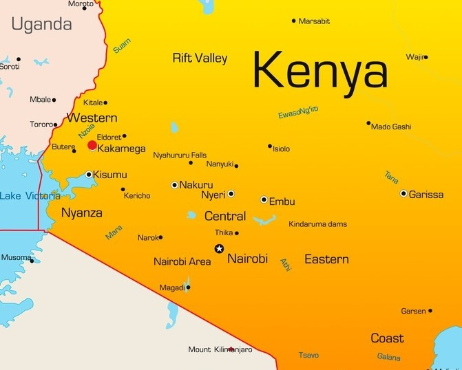 Kaart Kenya